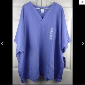 Cherokee Unisex Fit Workwear Blue Scrubs Top (U12)